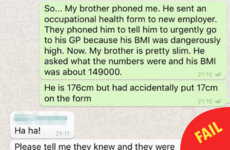 This guy's typo resulted in a rather embarrassing phone call about his BMI