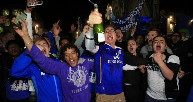 Photos: Leicester fans celebrate after being crowned Premier League champions