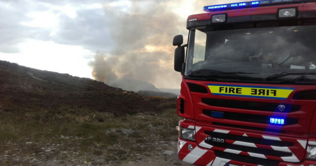 Firefighters in hours-long battle with gorse fire in Howth