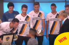Robbie Keane surprised an adorable little kid on the Ellen Show