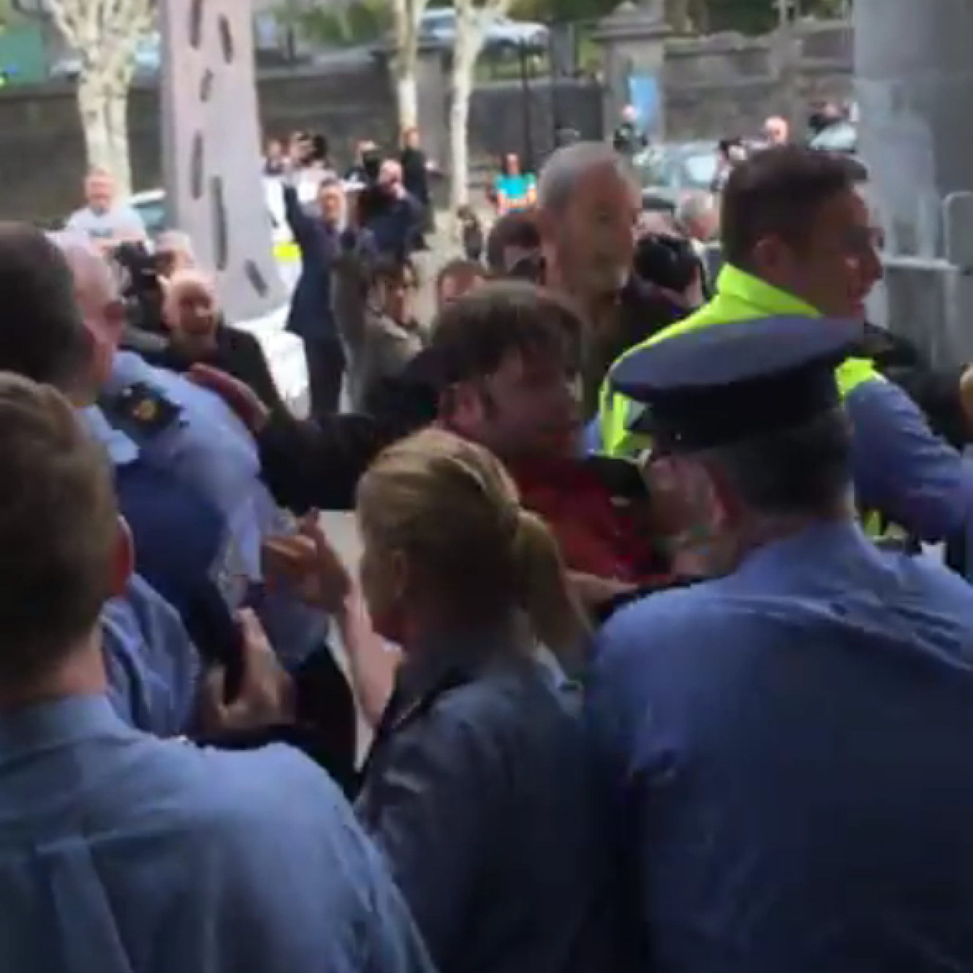 Armed gardaí called in as anti-eviction protesters take over Limerick court
