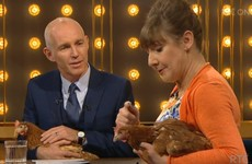 These two chickens were the stars of the Ray D'Arcy Show last night