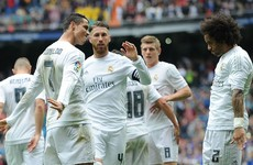 Ronaldo on the double as Real Madrid keep the heat on Barcelona