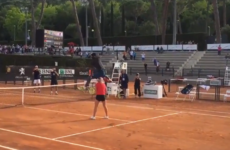 This is some disgusting athleticism from tennis star Gael Monfils