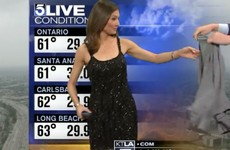 Weather forecaster plays down being made cover the dress she was wearing live on air