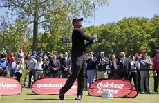 Tiger Woods hit some golf balls in public for the first time in months - it did not go well