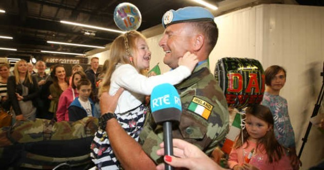 Emotional scenes as 190 Irish troops return home after 6 months in Lebanon