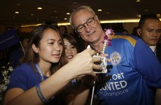 Leicester arrive in Thailand for week-long celebratory visit with club's owner