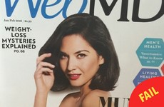 This magazine's morto Photoshop fail makes it look like Olivia Munn has a giant head