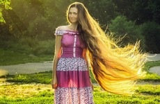 Instagram is obsessed with this woman's ridiculously long hair