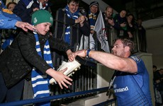 One lucky Leinster fan left the RDS with Jamie Heaslip's boots tonight