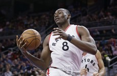 Biyombo grabs 'monster' 26 rebounds as Toronto end the Cavs' winning streak