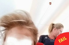 When this woman tried to face swap with an air hostess it didn't work out at all