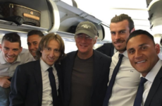 An officer and the gentlemen: Real Madrid had a celebrity guest on their flight to Milan