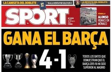 This Barca-loving newspaper are taking Real's Champions League win well