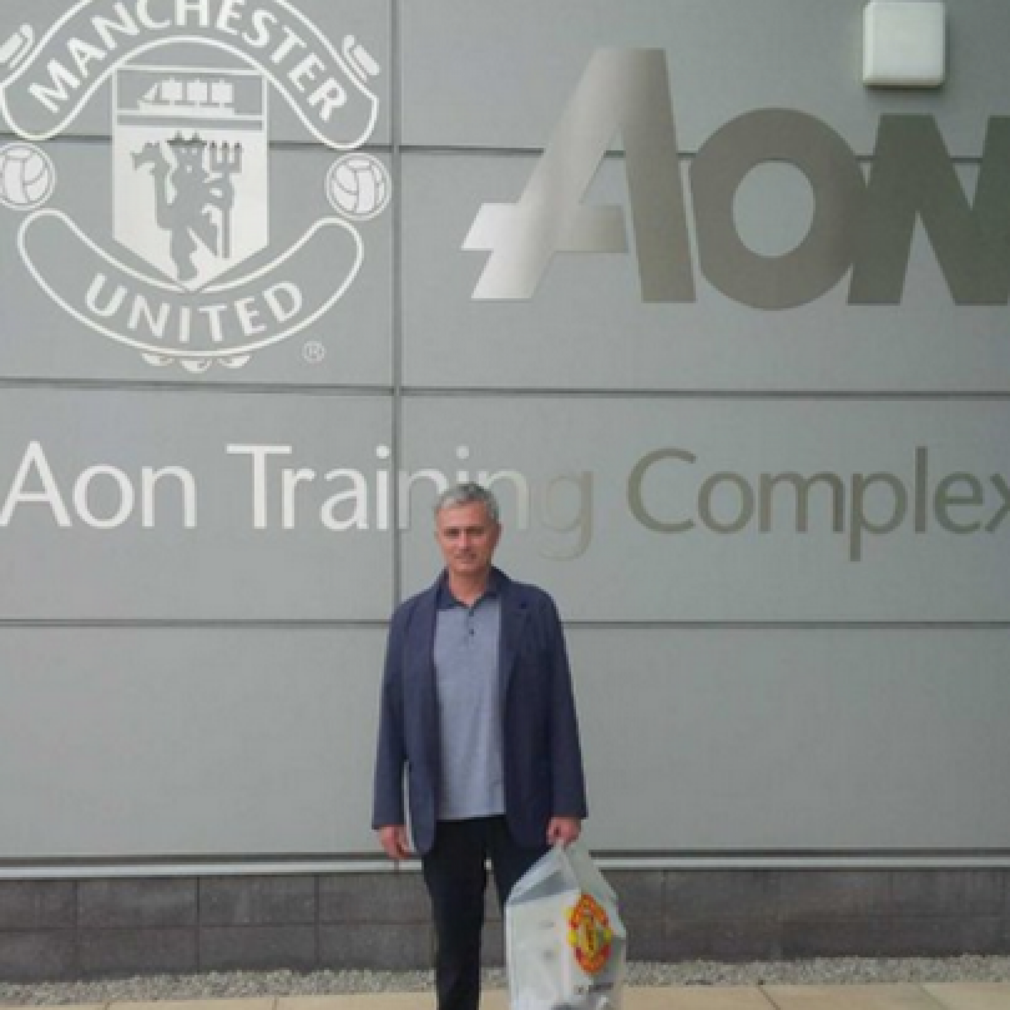 On his first visit to Carrington, Jose Mourinho looked like a regular tourist