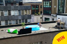 These lads were spotted having a lovely pool party for themselves on a Dublin rooftop