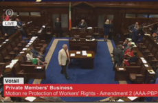 DEFEAT: The government has lost its first vote in the Dáil