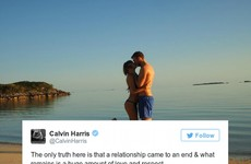 Calvin Harris has broken his silence on the Taylor Swift situation... it's the Dredge