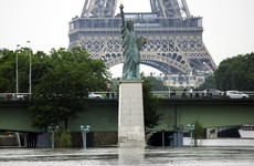 After reaching near-record heights, the River Seine has begun to recede
