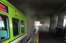 Passengers evacuated from train in Dublin after fire breaks out in engine