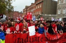 Students march against reintroduction of fees