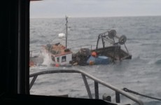 Two fishermen rescued after their boat sinks off the Cork coast