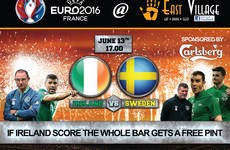 These pubs are offering free pints for the Ireland match on Monday*