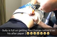 This Leaving Cert student celebrated finishing his English exam with a gas tattoo