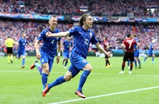 Magnificent Luka Modric strike gives Croatia a winning start against Turkey