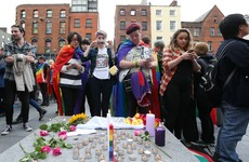 "Thousands turn out for ""rainbow vigil"" in Dublin to honour those killed in Orlando shooting"
