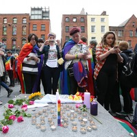 """Thousands turn out for """"rainbow vigil"""" in Dublin to honour those killed in Orlando shooting"""