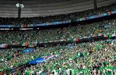 Irish fans remember Northern Ireland supporter who fell to his death with touching tribute after 24 minutes