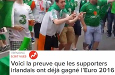 French people have completely fallen in love with Irish fans at the Euros