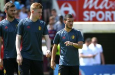 Belgium boss hopes to have De Bruyne and Hazard back training today