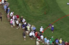Watch: Dustin Johnson's wild tee-shot cannons off a spectator's head and into a food tent
