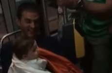 These Irish fans sang a lullaby to a French baby on a train