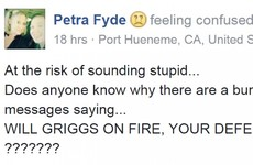 The 'Will Grigg's On Fire' meme has reached one very confused American