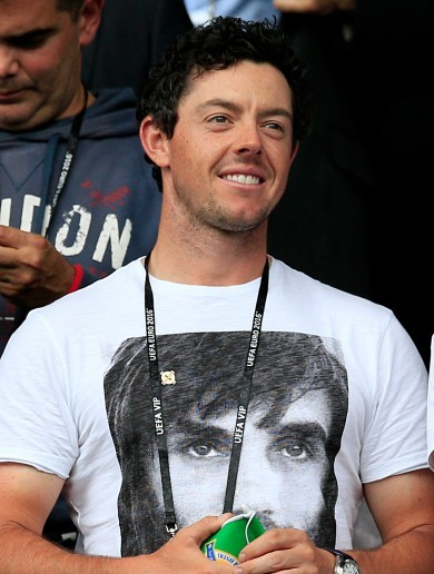 Rory McIlroy is wearing his Best shirt to cheer Northern Ireland on against Germany