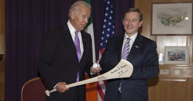 Enda Kenny receives US Vice President Joe Biden in Dublin