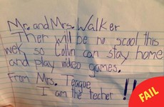 These parents received a totally legit letter from their son's 'teacher'