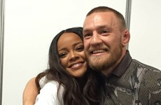 Rihanna met Conor McGregor in Dublin last night and now she's a big fan