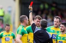 Donegal 3-time Allstar winner's suspension stands and faces two match ban after red card