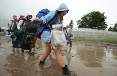 Mud, traffic jams, queues and more mud: Glastonbury is no craic so far