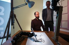 Fancy having your portrait drawn by three robots called Paul in Dublin?