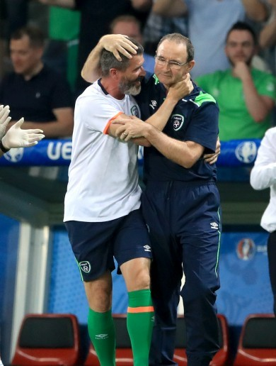 'Shave your beard!' Martin O'Neill on his discussion with Roy Keane at full-time