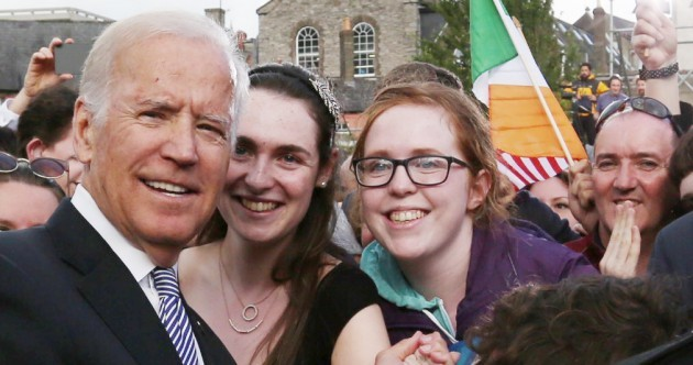 Joe Biden has taken time out from his Irish visit to have a go at Trump