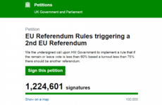 More than 1 million sign petition to rerun EU referendum