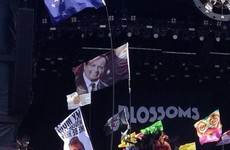 Some legend has brought a Marty Morrissey flag to Glastonbury