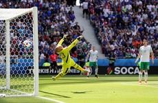Quick-fire Griezmann goals tear Irish hopes to shreds